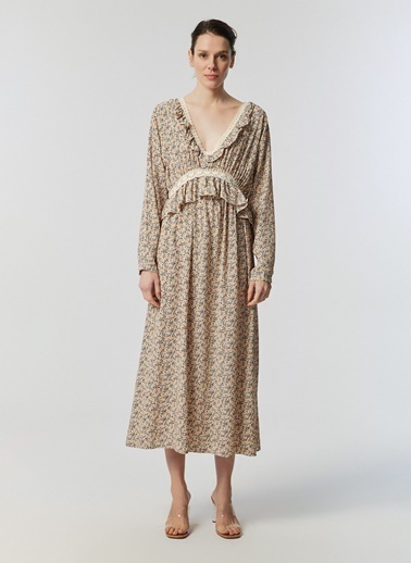 Monamoda Elbise Bej